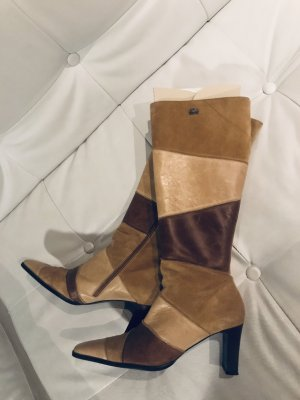 Buffalo Heel Boots cognac-coloured-camel leather