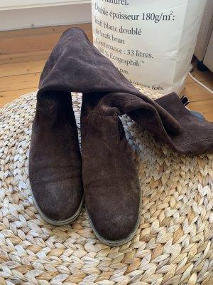 Braune Lederstiefel von Tommy Hilfiger in Größe 39