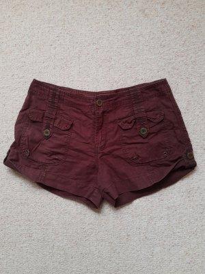 3 Suisses Shorts marrón-negro Lino