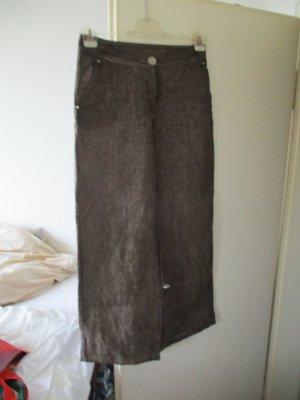 Elisa Cavaletti Pantalon en lin brun