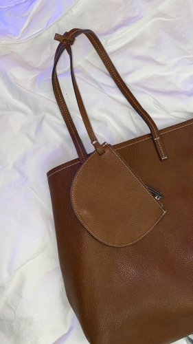 Mango Basics Shopper brown-dark blue
