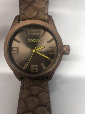Oozoo Horloge met lederen riempje veelkleurig Leer