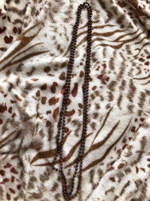 Collar de perlas marrón oscuro-marrón