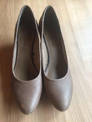 Tamaris Chaussure à talons carrés marron clair