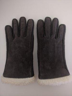 Braune Raulederhandschuhe/Damenhandschuhe, Gr. S/7