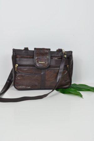 Braune Rechteckige Ledertasche / Businesstasche