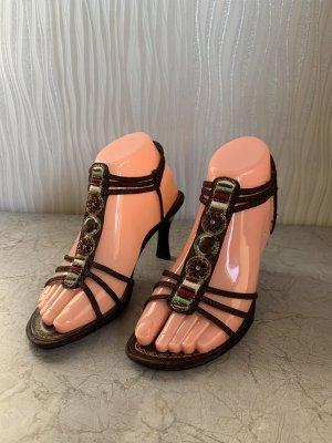 Braune Riemchen Sandaletten