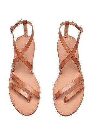 H&M Sandalo toe-post multicolore Finta pelle