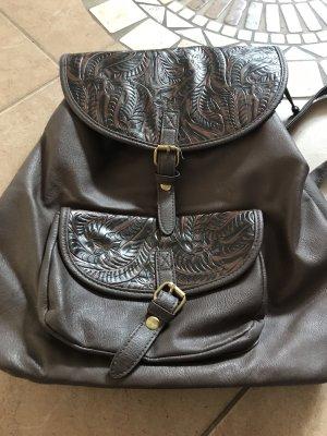 C&A School Backpack dark brown