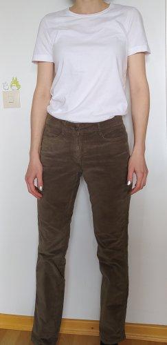 Braune Samthose von more&more, Größe 36