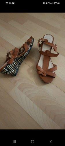 Braune Sandale