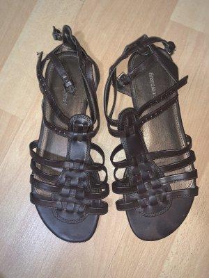 Graceland Romeinse sandalen zwart bruin-donkerbruin
