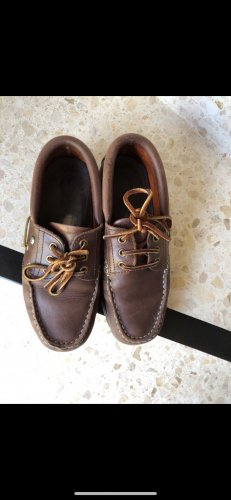 Carrera Zapatos de marinero coñac-marrón oscuro