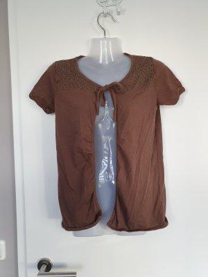 braune Shirtjacke