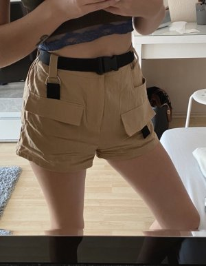 SheIn High-Waist-Shorts brown