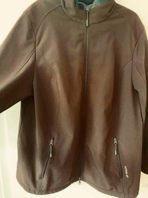 Ulla Popken Chaqueta softshell marrón-marrón grisáceo
