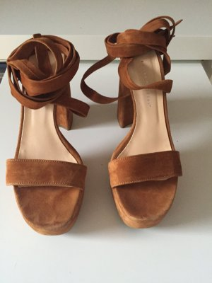 Andrea Puccini Sandals cognac-coloured-brown leather