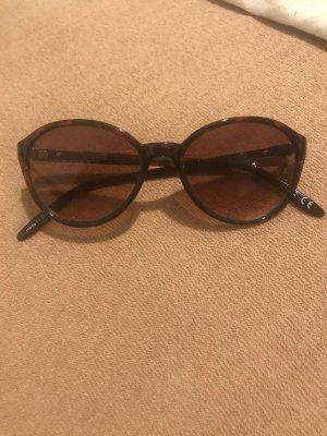 Braune Sonnenbrille Leomuster Gold