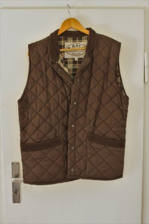 Quilted Gilet brown-dark brown polyester