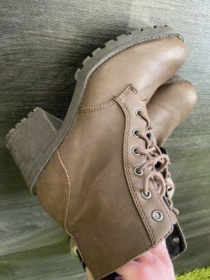 H&M Plateauzool Laarzen bruin