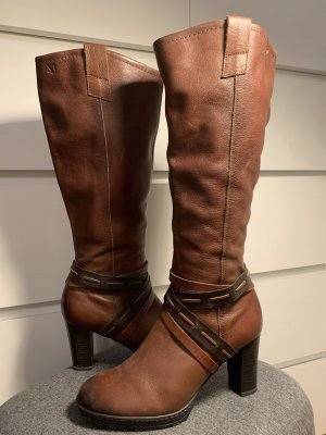 Caprice High Heel Boots cognac-coloured
