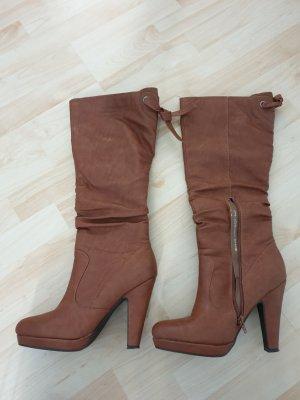 Heel Boots brown-cognac-coloured