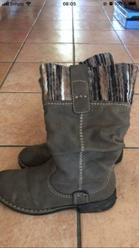 Rieker Fur Boots white-light brown