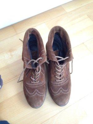braune Stiefel Stiefeletten Wedges Keilabsatz Görtz Shoes