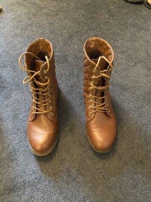 Braune Stiefel, Winterstiefel, Kunstleder Schuhe, Stiefel