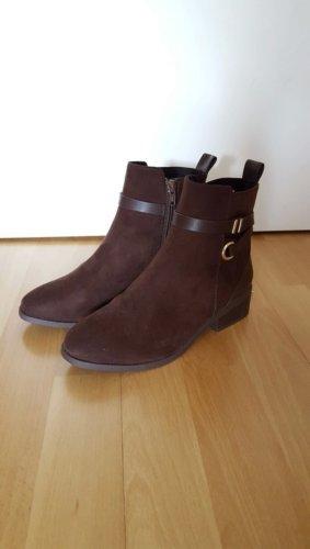 H&M Bottines plissées brun