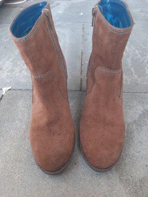 Desigual Laarsjes met sleehak bruin-blauw