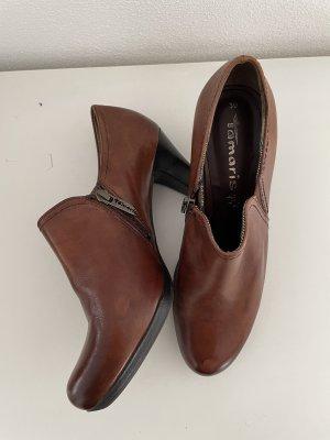 Braune Stiefeletten / Ankle Boots von Tamaris