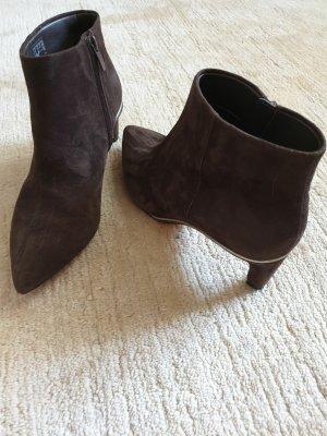 Clarks Zipper Booties dark brown