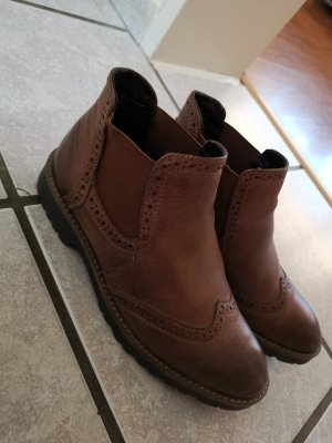 5 th Avenue Slip-on Booties brown