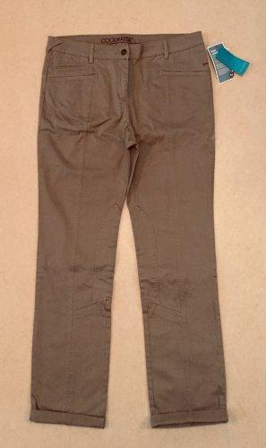 braune Stoffhose mit Etikett, lang, medium waist, Gr. M