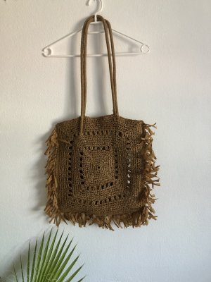 Braune Strandtasche von Zara