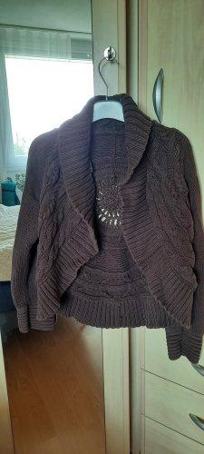 1.2.3 Paris Coarse Knitted Jacket black brown