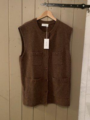 American Vintage Knitted Vest grey brown