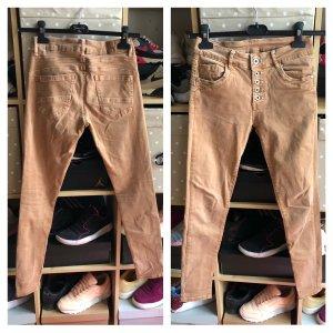 Jeans skinny marron clair-brun