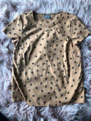 Vero Moda Blusa de manga corta marrón claro-negro
