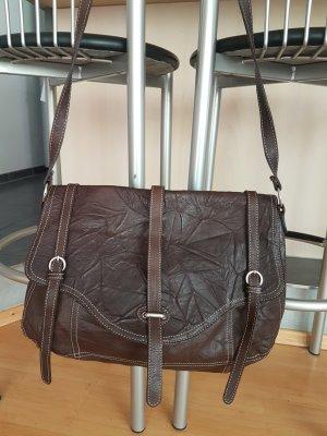 Breuninger Exquisit Crossbody bag bronze-colored leather
