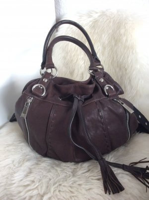 Jette Joop Pouch Bag brown-silver-colored leather
