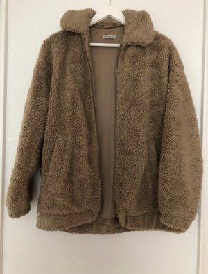Urban Outfitters Chaqueta de piel sintética marrón claro