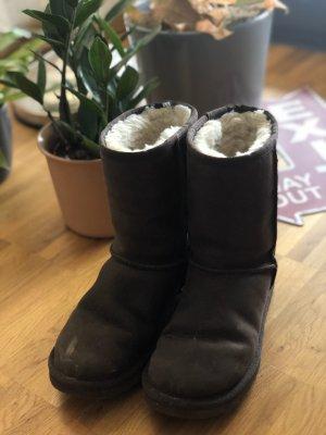 UGG Botas de nieve marrón-negro