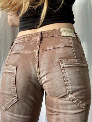 Braune verwaschene Jeans von Please