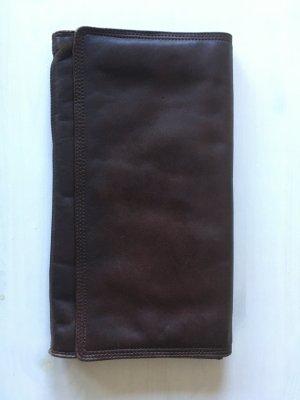 Bolso de mano marrón oscuro Cuero