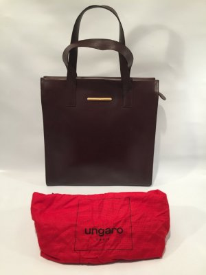 Braune Vintage Emanuel Ungaro Handtasche aus Leder