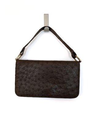 Braune Vintage Handtasche aus Leder