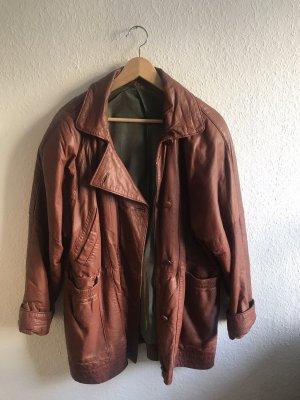 Braune Vintage Lederjacke