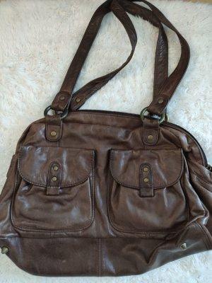 Braune Vintage Marc O´Polo Tasche aus Leder